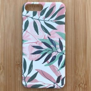NEW Iphone 7/8/7+/8+ Pink Floral Tropical Case